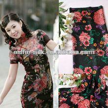 custom camouflage silk fabric