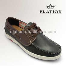 Fashion mens leather boat shoes