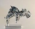 venda quente única zebra resina escultura moderna decoração home