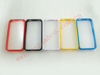 Hybrid Dual Color Hard Plastic Soft TPU Cell Phone Case for iPhone 4 4s