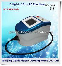 2013 New design E-light+IPL+RF machine tattooing Beauty machine cavitation vacuum rf slimming breast fit cup bio pen
