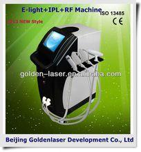 2013 New design E-light+IPL+RF machine tattooing Beauty machine human hair training head