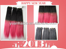 factory wholesale price tangle free human hair hot pink weave hair