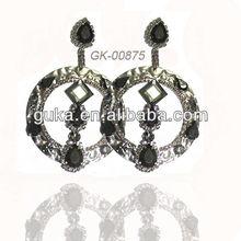 hot sale earrings , fashion dangle nice zircon earrings for girls , high quality earrings