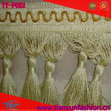 elegant yow polyester decorative tassel fringe for curtain