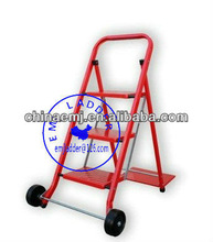 Dual Function Hand Truck 40kg, 3 Step / Tread Ladder - FOLDING TRANSPORT TROLLEYAluminum Alloy