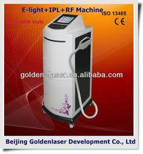 2013 Multi-Functional Beauty Equipment New Design E-light+IPL+RF machine increase skin flexibility