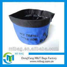 fashion durable blue color 600D pet bowl fashion cat bowl