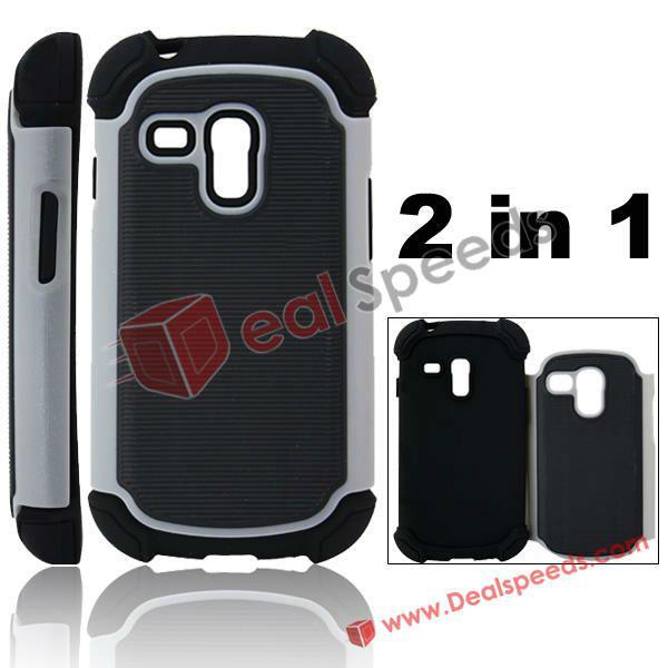 Protective Back Skin Case for Galaxy S3 Mini i8190(Grey)