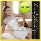 Hot Sale Organza Noble Sleeveless Short Sexy Wedding Dresses Images