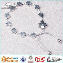 Antique Metal St Benedict Cord Rosary Bracelet with Cross