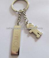 custom girl charm key chain