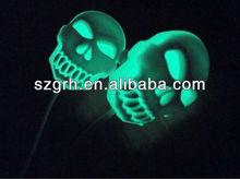 Fluorescence mp3 mp4 skull earphone
