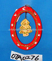 natal pendurado em árvore oval enfeite de cerâmica