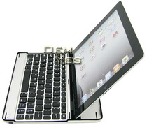 Hot,Aluminum Shell Bluetooth Keyboard Snap ON Case Stand For iPad2 iPad3
