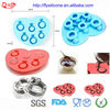 Food Grade 6pcs Different Size Diamond Shape Silicone Ice Cube Tray Summer Cooling Partner