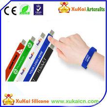 usb flash drive wristband design with customized logo