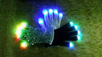 led rainbow light up finger gloves / led lighting gloves