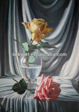 Modern Still Life Flower Oil Painting Handmade Rose Paintings