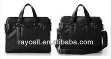 European fashion Men's Brown PU leather handbag with factory price