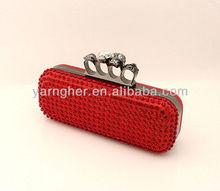 high elegent rhinestone ring clutch bag