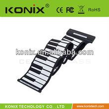 flexible roll up electronic keyboard piano organ