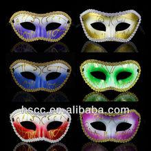 Hot Sale PVC Mix Color Simple Design Masquerade Party Mask