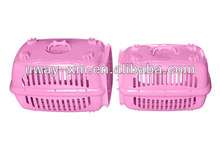 2013 newest pink PP breathable travelling pet carrier dog with door