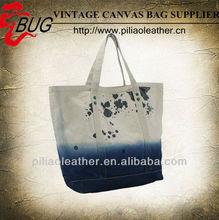 Fashion design canvas shopping bag/canvas handbag/canvas bag for lady