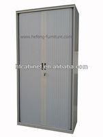 Steel filing cabinet with roller shutter door