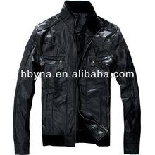 LR13002 genuine sheep leather jacket for men