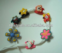 popular customized soft pvc plastic 3d shoe lace charms