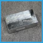 Hot Sale Metal Junction 3x6 2 Gang Outlet Box