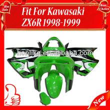 Body Fairing for KAWASAKI Ninja ZX6R 98-99 1998-1999 ZX-6R 1998 1999 ABS Green/White/Black