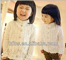 2013 AUTUMN CHILDREN PUT NEW GIRL'S BIG LUN NANELY MODEL COTTON DIAMOND CHIFFON RENDER UNLINED UPPER GARMENT