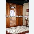 Vida longa cherry madeira roupeiro quarto móveis de madeira do armário armários guarda-roupa aw15