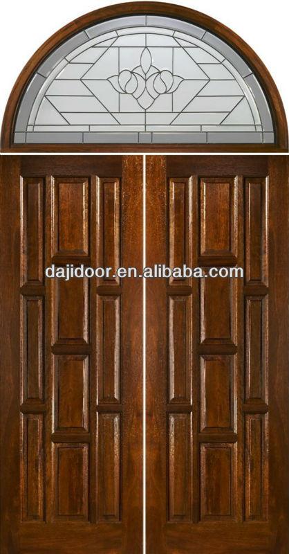 Doble principal de entrada puertas de madera con arco de - Arcos de madera para puertas ...