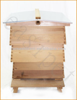 WBC Beehive Cedar New 3 Lifts Porch 2 Super 1 Brood Gabled Roof Beekeeping