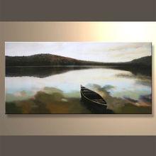 modern landscape of boat