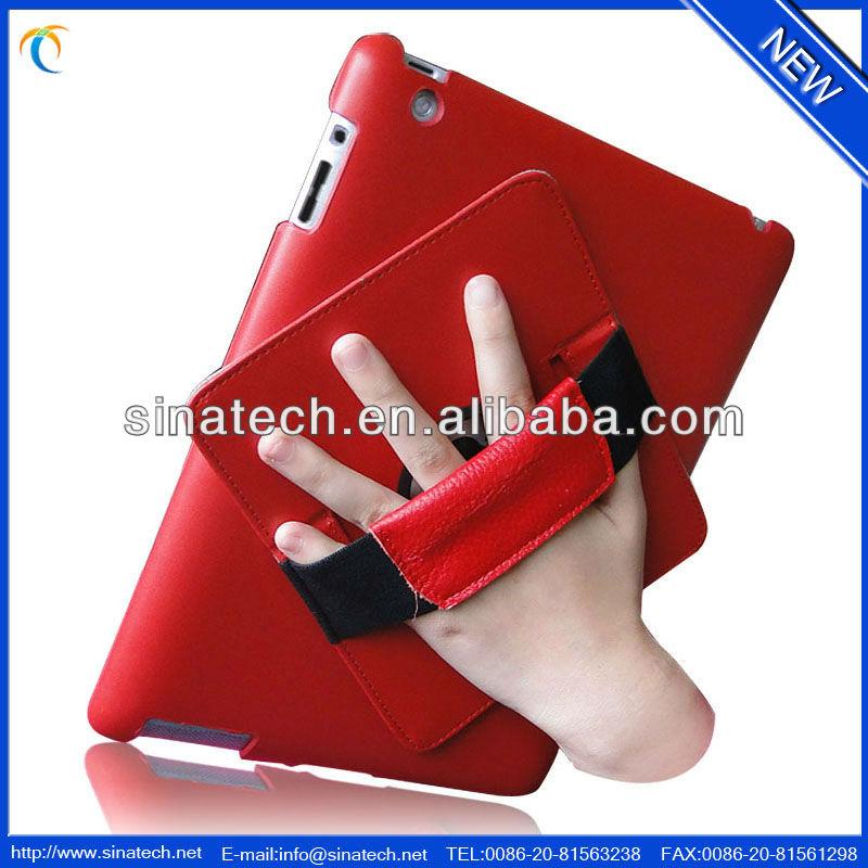 new arrival waterproof leather handheld ipad case