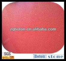 SGS red artificial quartz,stellar agglomerated stone,engineered quartzite panel for kichten countertop,flooring,wall tile