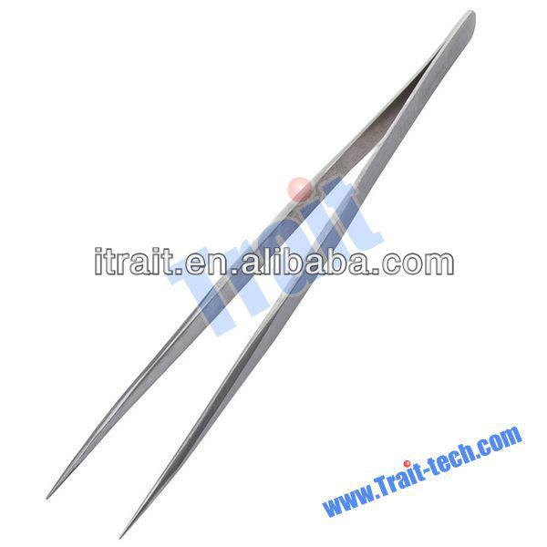 Anti-magnetic Anti-acid Non-corrosive Stainless Steel V 45 Tip Tweezers/ stainless steel tweezer function (No-11)