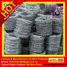50 kg / roll farpado galvanizado fio de ferro