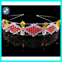 Pageant red tiara hair band.fashion red tiara hair band