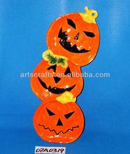2013 Halloween pumpkin shaped ceramic plate
