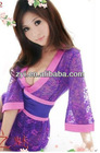Purple free sex women silk pajamas photo