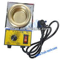 150W Lead-Free Titanium Tin Stove Temperature Controlled Soldering Pot - Blue + Golden /mini solder pot (220V)