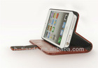 support with purse port pu leather case for apple iphone5 5g