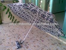 3 Section Folding lace Umbrella/ Korean style super light aluminum sun/rain umbrella