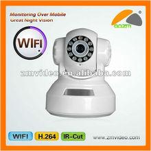 720P CMOS 2MP WiFi Wireless Network Surveillance IP Camera / Night Vision/Microphone/SD Slot
